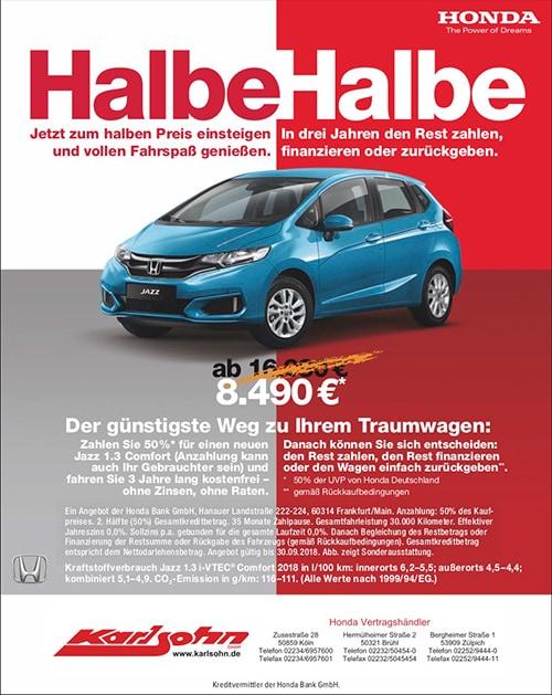 Honda Angebote im Autohaus Karlsohn
